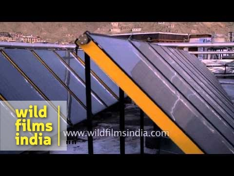Roof top solar water heating in Ladakh