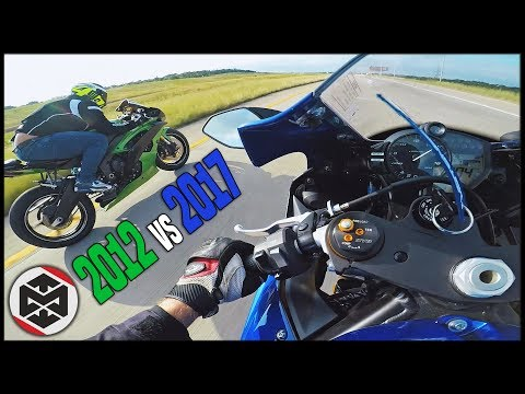 NEW vs OLD! - YAMAHA R6 SHOOTOUT [2017 vs 2012]