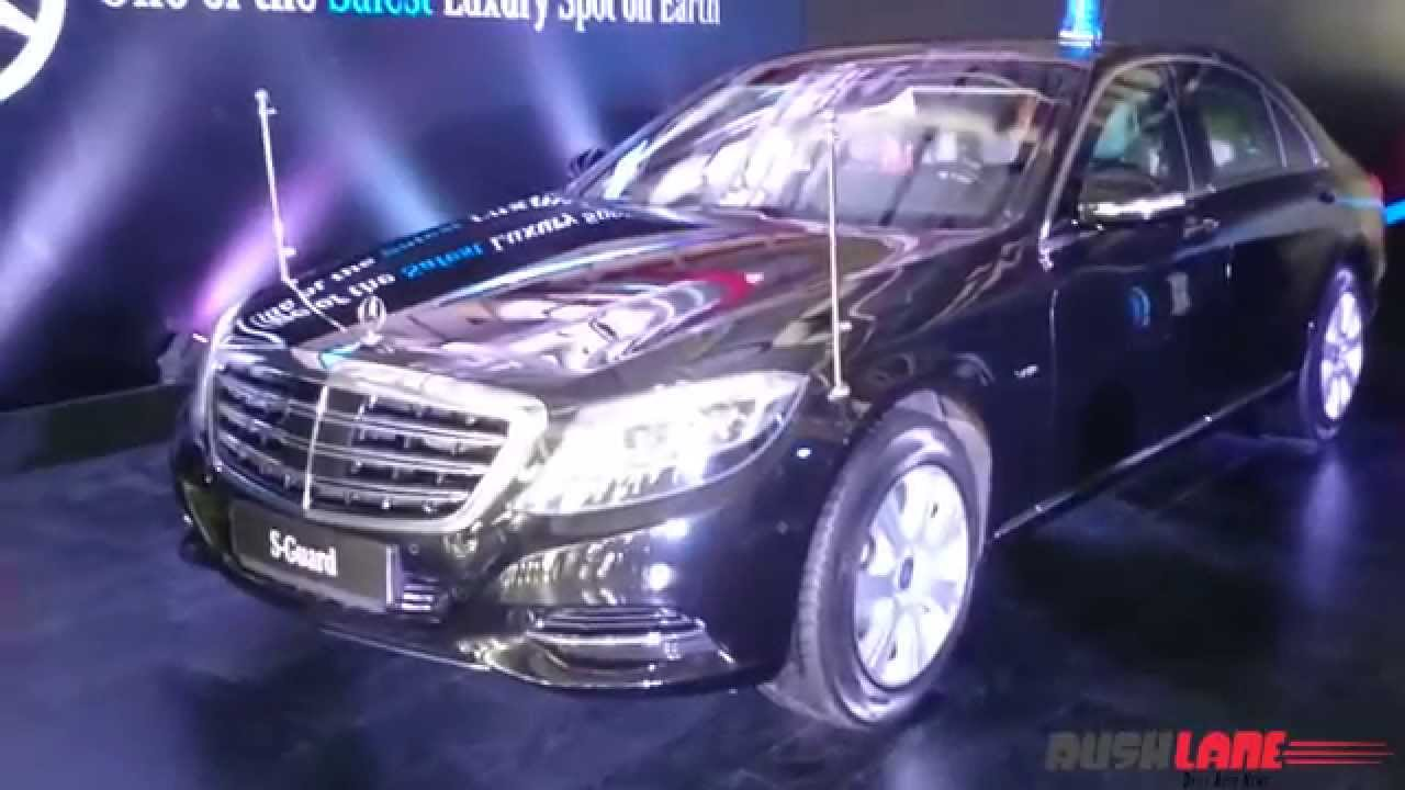 Mercedes Benz S600 Guard India launch at BIC, price Rs 8.9 crores ...