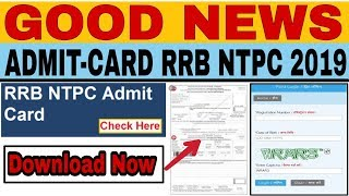 RRB Ntpc Admit Card 2019, Download Now...
