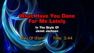 Janet Jackson - What Have You Done For Me Lately (Backing Track)