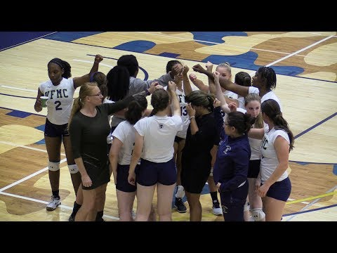 Valley Forge Military College vs MCCC - Volleyball - Sophomore Night! 10.4.17 - Mid Court View