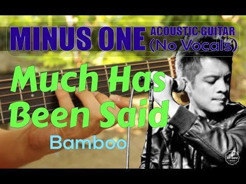 Bamboo - Much Has Been Said acoustic minus one cover
