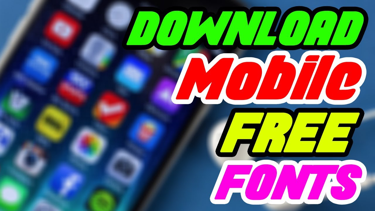 How to Download Free Fonts for Android Mobile in Tamil - Youtube Tutorials  in Tamil