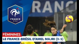 Amel Majri lors de France-Brésil Féminine (3-1)