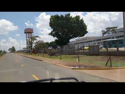 Driving near Nairobi airport, Kenya, 2017-09-17