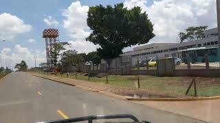 Driving near Nairobi airport, Kenya, 2017-09-17