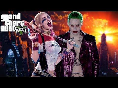 Harley Quinn & Joker : GTA 5  Insane Love Movie Trailer