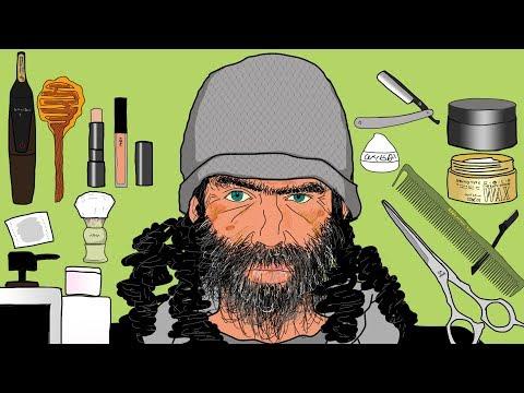 [STOP MOTION] Homeless Man Transformation/Make Up Animation