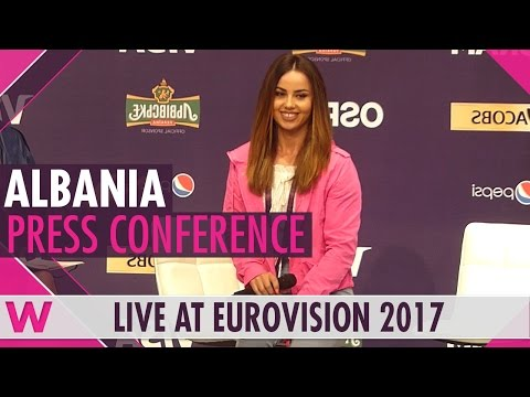 "Albania Press Conference — Lindita ""World"" Eurovision 2017 
