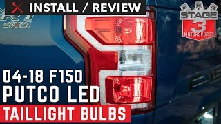 2004-2018 F150 Putco Plasma LED Rear Turn Signal Bulbs Install and Review