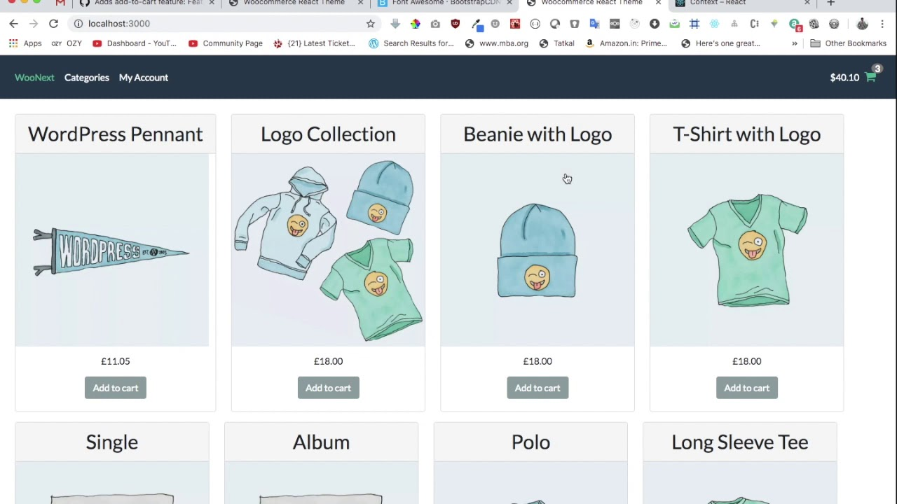 #11 WooCommerce and React | Create Context | Next.js | WooCommerce Store | WooCommerce GraphQL