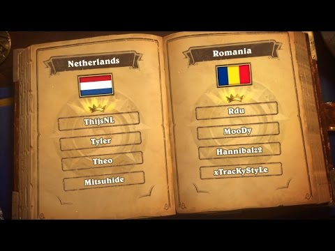 Netherlands vs Romania Group B - Match 1 - Hearthstone Global Games