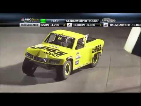 2013 Stadium SUPER Trucks Round #3 LA Coliseum SST On NBC Broadcast
