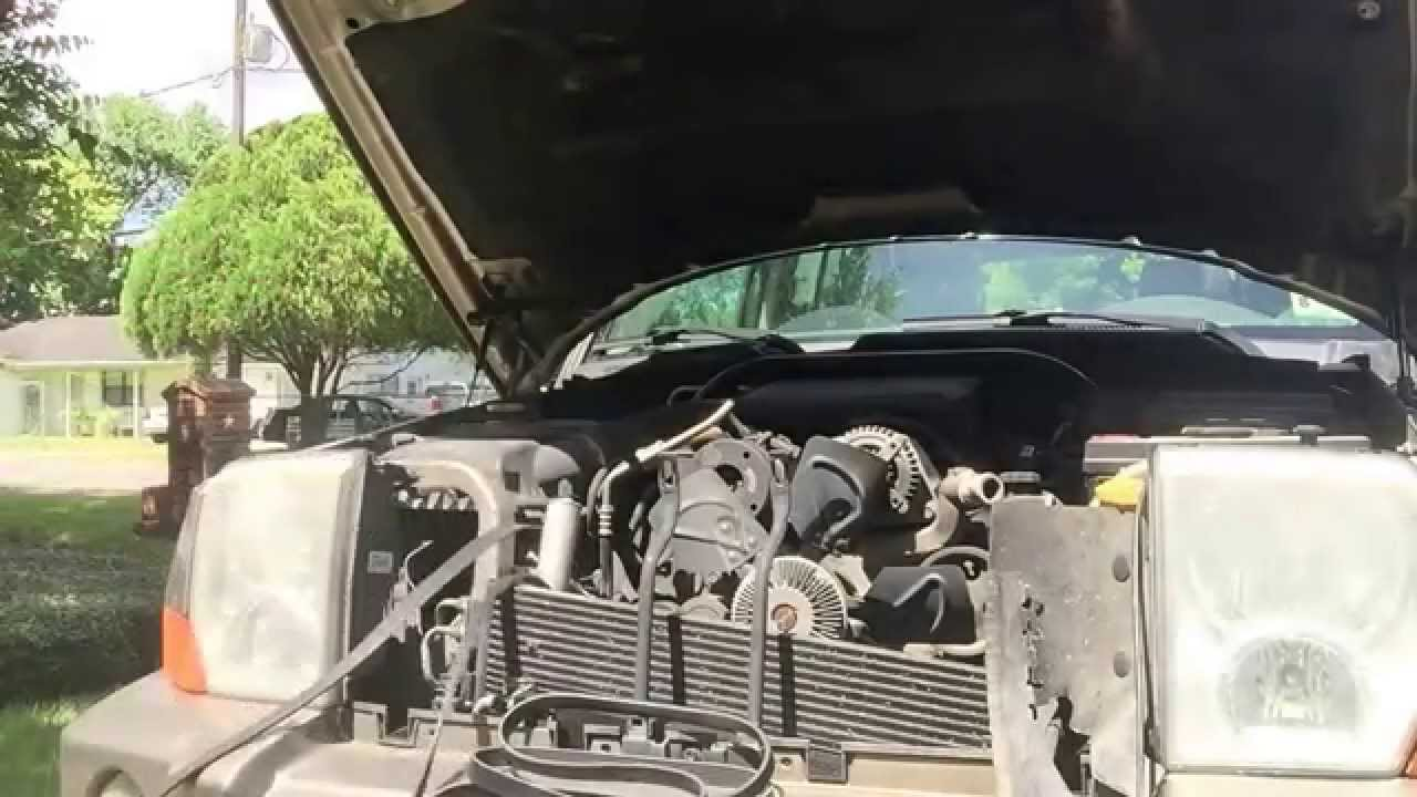 medium resolution of replacing the serpentine belt on a 2006 jeep commander 4 7 l