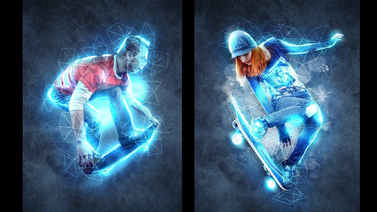 Абстрактный световой эффект в Фотошоп в стиле Renegade ...