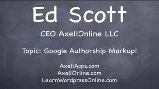 How to use Google Authorship Markup - Learn Wordpress Online - AxellONline