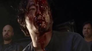 Glenn's death scene but everytime he gets hit by Lucille, the Roblox death sound plays