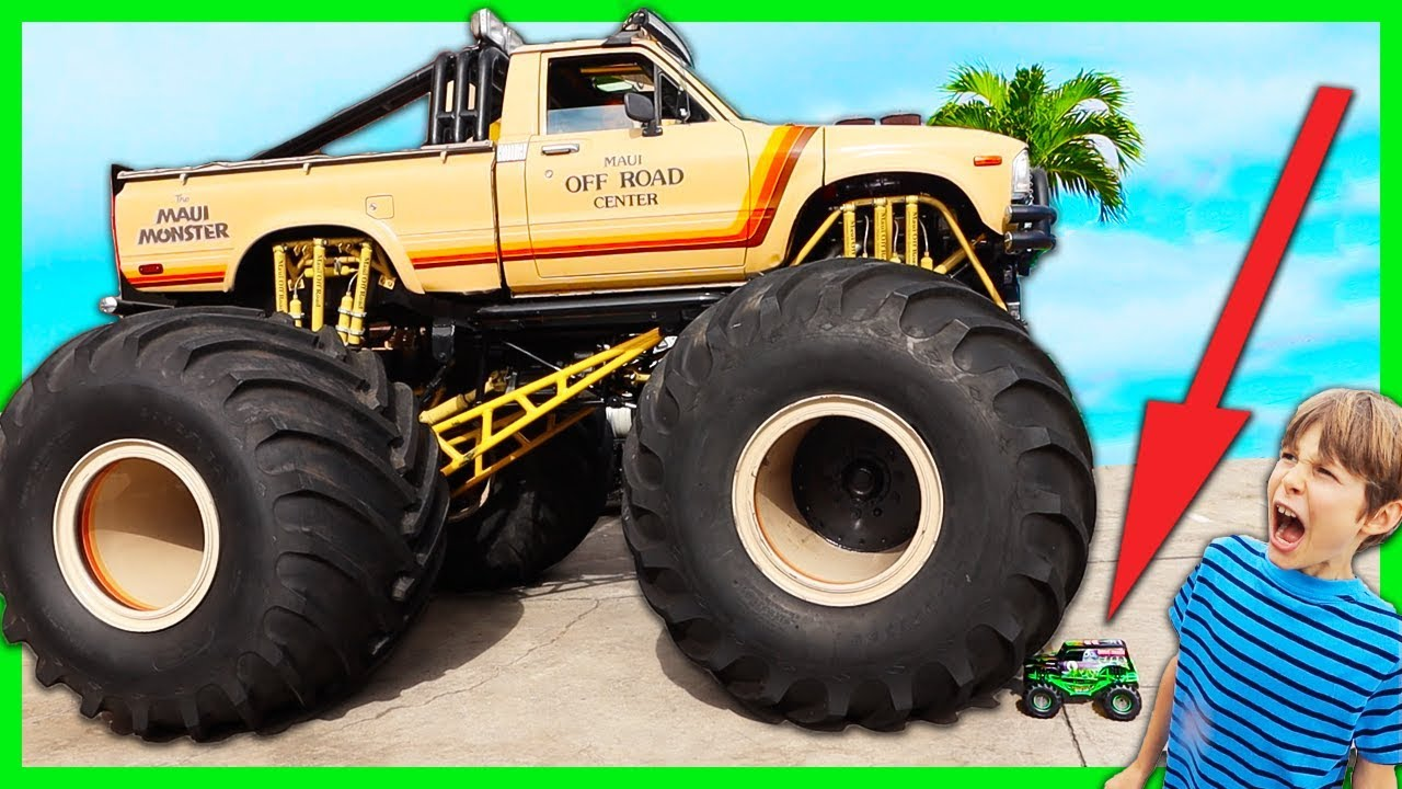 Maui Monster Truck Vs Rc Grave Digger New Spy Gadgets Youtube