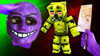 Realistic Minecraft FNAF PURPLE GUY IN REAL LIFE