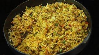 Tawa Pulao Rice | Street Style Tawa Pulao | Pulao with Pav Bhaji Masala