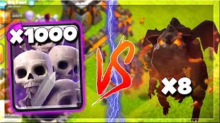 1000 SKELETONS vs THE DEADLY HOUND - WHO WILL WIN? - Clash of Clans