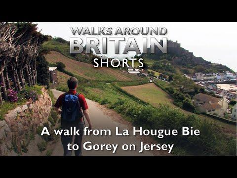 A walk from La Hougue Bie to Gorey on Jersey - Walks Around Britain Shorts