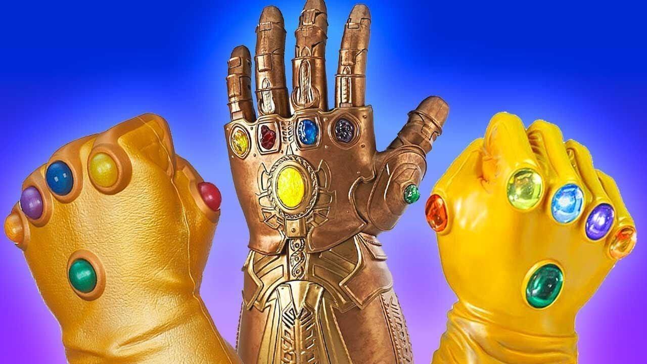 Adult XXF Infinity Gauntlet Gloves Adult PVC Infinity Glove led Infinity Stone Light Up Halloween Cosplay Prop.