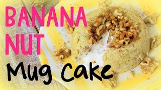 Banana Nut Mug Cake | Cheap Clean Eats