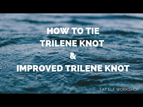 How To Tie Trilene Knot And Improved Trilene Knot
