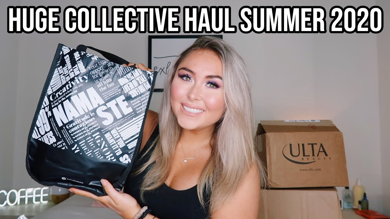 HUGE UNBOXING & COLLECTIVE HAUL SUMMER 2020! *Lululemon, Urban, Frankie''s Bikinis, & More!*