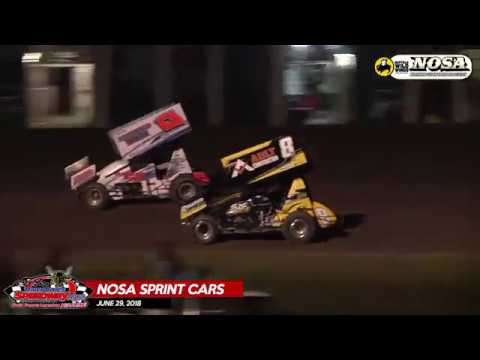 NOSA Sprint Car Highlights - River Cities Speedway - June 29, 2018