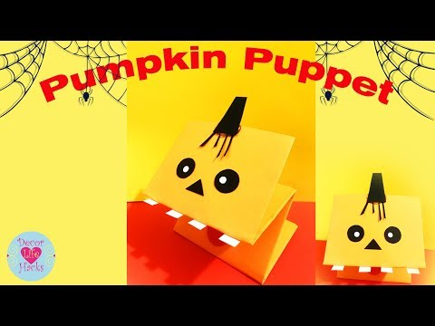 Halloween Crafts.How to make a Paper Pumpkin.Halloween Decorations