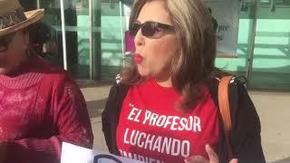 Protestan maestros en Ensenada