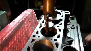Наглядная выверка под расточку блока цилиндров ВАЗ.