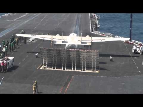 Amazing aircraft carrier takeoff