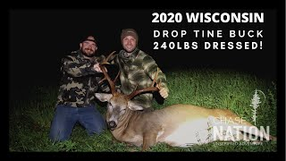 2020 Bow Hunt in Wisconsin - HUGE BODY Drop-Tine Buck