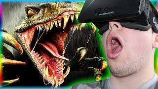 JURASSIC WORLD THE GAME!? - Dinosaur Park in Virtual Reality Oculus Rift!