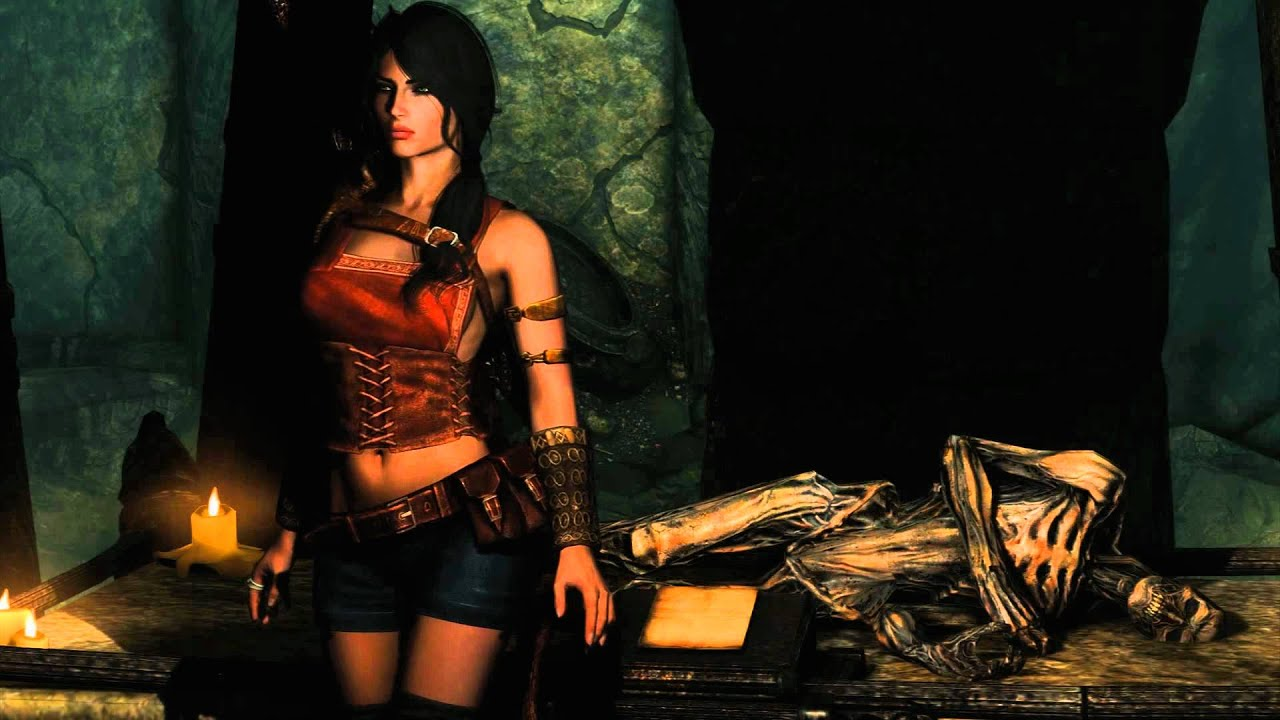 Dreads Girl Wallpaper Skyrim Vixen Wearing Leah Armor Mod Wip Youtube