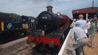 Drama on The Wizards Express II With 5972 Hogwarts Castle aka Olton Hall 12/7/2014