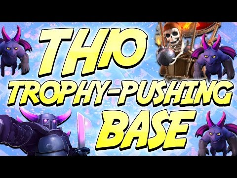 """Clash of Clans - *SOLID TH10* """"Trophy Pushing Base"""""""