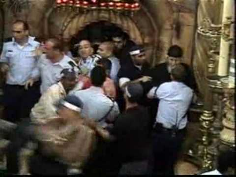 Armenian & Greek Orthodox Monks Fight Jerusalem