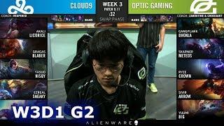 C9 vs OPT | Week 3 Day 1 S9 LCS Summer 2019 | Cloud 9 vs OpTic Gaming W3D1