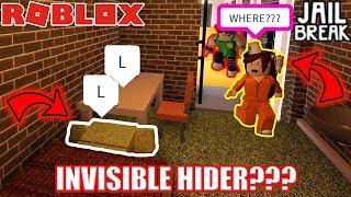 INVISIBLE Hide and Seek??? | Roblox Jailbreak Hide and Seek SARDINES