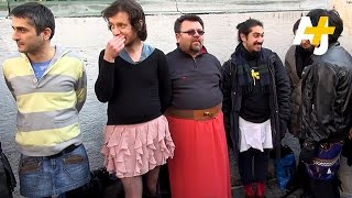Men In Skirts Protest Violence Against Women In Turkey