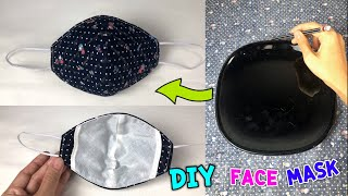 DIY Protective Mask with easy pattern made from dish
