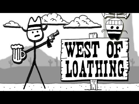 Wild West Adventure! FUNNIEST GAME EVER! (West of Loathing Gameplay Part 1 Baron - WoL Ep1)