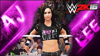 WWE 2K16 - AJ Lee - CAW Formula+Giriş & Sonlandırıcı