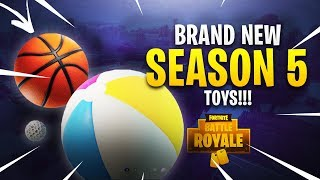 NEW TOYS IN FORTNITE! GOLF, BASKETBALL & VOLLEYBALL!