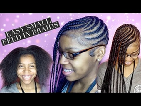 Easy Small Feed In Braids For Beginners Youtube